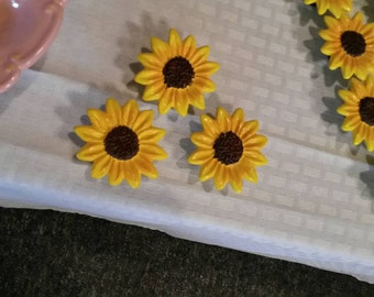 Sunflower Magnets - set of 3