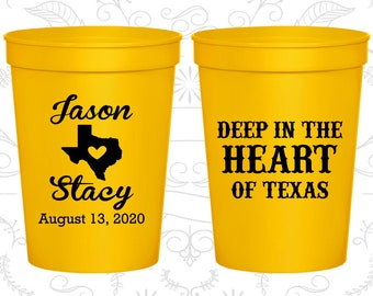 Yellow Stadium Cups, Yellow Cups, Yellow Party Cups, Yellow Wedding Cups (214)