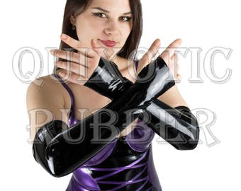 Latex Classic Opera Gloves