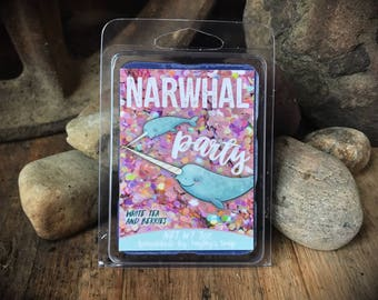 Narwhal Party Wax Melt - White Tea and Berries Wax Melts - Natural Bees Wax - Soy Wax - Wax Melt - Wax Warmer - Candle Melt