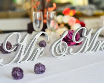 Mr. and. Mrs. signs. Wedding signs. Top table centerpice. Sweetheart table decoration wooden signs Mr Mrs. Wood sign.