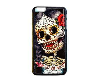 iPhone Case Choose Your Case Size Skeleton Girl #D233