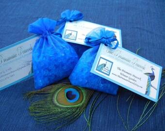 winter garden scented aroma bead sachet blue