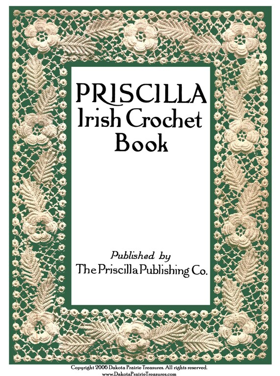 1920 Eduardiana Priscilla irlandés Crochet Lace libro 1er