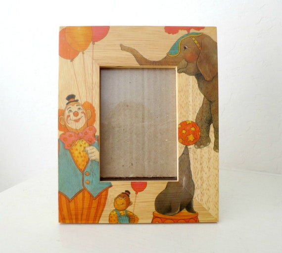 Handcrafted FETCO Wood Circus Frame, Nursery Picture Frame ...