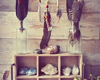 Dreamcatcher Pendant Necklace Amber Native Ethnic Hippie Gipsy Bohemian Beads Tribal