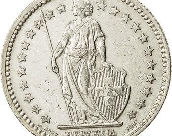 switzerland 2 francs 1941 bern au(55-58) silver km21