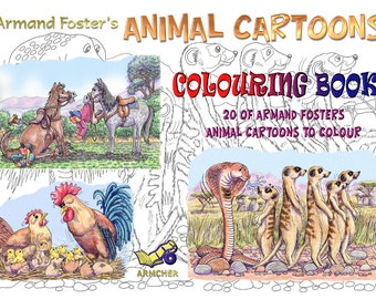 Armand Foaster's ANIMAL COLOURING BOOK - A4