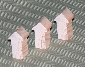 Bird House Pendant Blank, 6 Pack, Pine,  Item 406