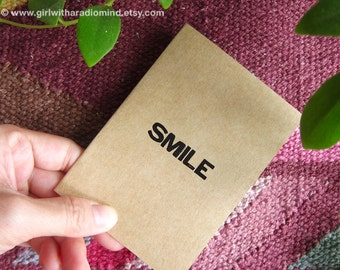SMILE Notebook 54. Mini Travel Pocket Notebook - Journal with One Simple Word