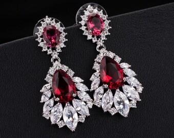 Bridal Earrings wedding Earrings cubic zirconia drop earrings