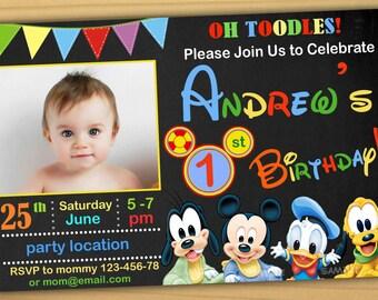 mickey mouse first birthday invitations Josemulinohouseco