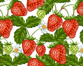 SEMI-rigid PLACEMAT, ORIGINAL design, WASHABLE and durable - fruit - strawberries, blackberries and green. Classic version.