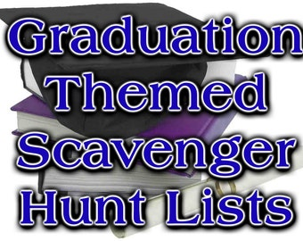 Graduation Themed Scavenger Hunt List Collection