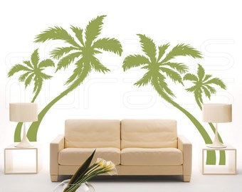 Wall Decals PALM TREES Vinyl Murals Removable Stickers Decor by Decals Murals
