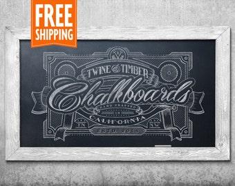 Standard Rustic Framed Chalkboard - Antique White