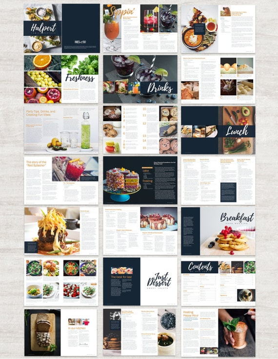 Cookbook and Recipe Template for Adobe InDesign Instant