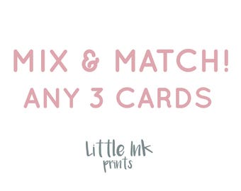Mix and Match Cards Any 3 Cards - Greeting Cards Multipack - Card Bundle - Wedding Greetings Cards