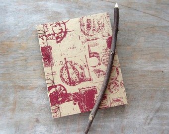 Postmark Travel Journal or Sketchbook, 6.5x5 inches, unlined pages, Ready to Ship