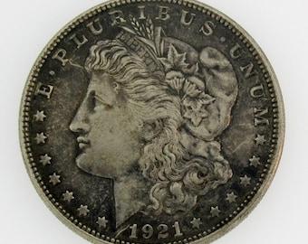 1921 D RARE MORGAN SILVER Dollar Natural Toning Better Date You Grade Free Shipping