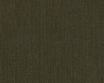 6.5 oz Sanded Brushed Cotton Twill Fabric OLIVE GREEN Apparel Clothing Crafts Home Decorating