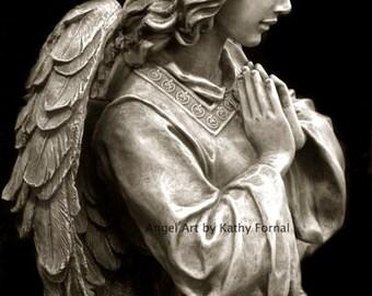 Angel Photography, Guardian Angel Praying, Angel Prints, Angel Photos, Guardian Angel Prints, Angel Wall Decor, Cemetery Angel Photographs