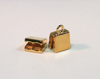 Gold Plated Double Capture Ends - 1 pair