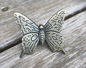 Butterfly Drawer Knobs - Butterfly Cabinet Knobs - Butterfly Knobs (RTG27)