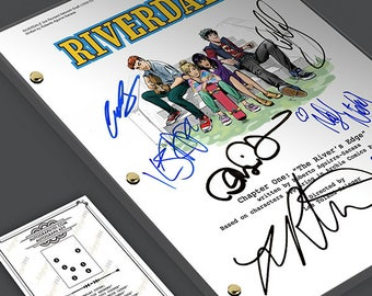 Riverdale TV Show Pilot Script Screenplay Signed Autograph Reprint - KJ Apa, Cole Sprouse, Archie Andrews, Jughead Jones, Betty Cooper