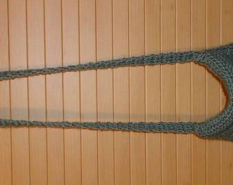 SHOULDER BAG MADE CROCHET GREEN - NEW