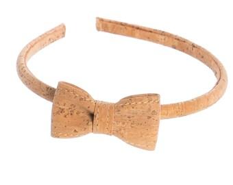 Cork bow tie headband