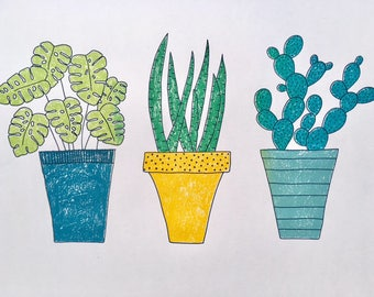 House Plants Screen Print Limited Edition