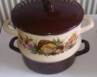Vintage double steamer Pot,