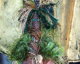 Gaeandra, Forest Sprite, an elemental spirit art doll