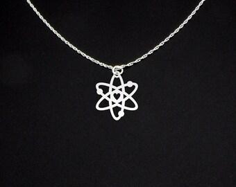 Atom Necklace - Science Necklace - Atom Jewelry - Atom Gift - Science Gift - Science Jewelry