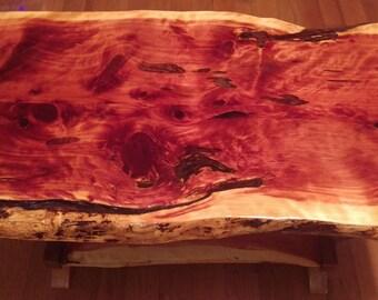 Custom Made Eastern Red Cedar coffee table