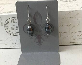 Melon Czech glass bead earrings