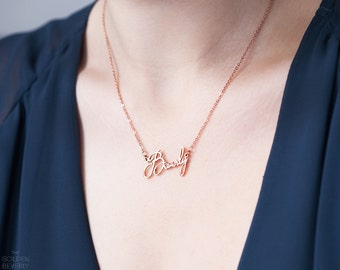 Custom Name Necklace -Best Friend Name Necklace -Personalized Rose Gold Name Necklace -Silver Name Necklace -Rose Gold Name Necklace