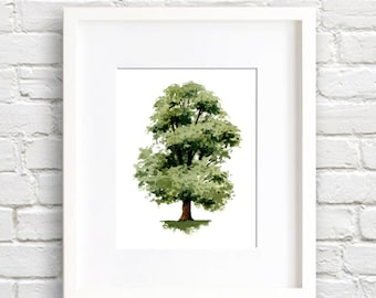 Elm Tree - Art Print - Wall Decor - Watercolor Painting