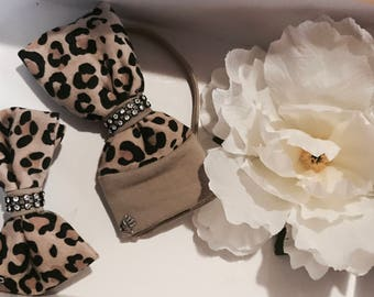 Chic Leopard printed hair accessories