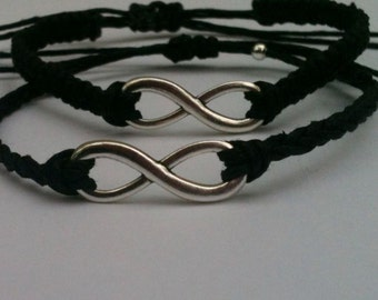 His and Hers Infinity Bracelets Couples Matching Infinity Bracelets Choose Color and Finish