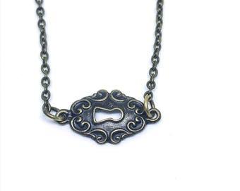 Vintage Key Hole Necklace