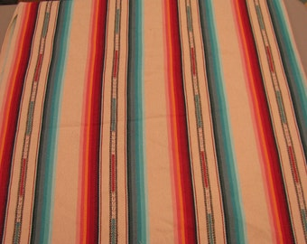 """Laura Kiran Southwest Stripes Silver City Cream heavy twill like decor fabric, sent as 18 or 26"""" pillow size cuts, or sent as sewn cover"""