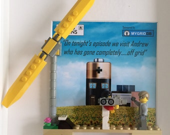 LEGO Framed Diorama - Wind Turbine