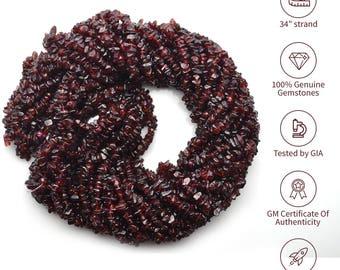 Garnet Chip Beads, 34 inch Full strand, Wholesale Price Code GemMartUSA  (CHGT-70001)
