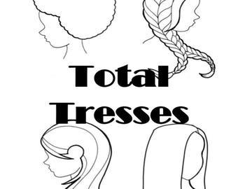 Total Tresses | Digital Coloring Book