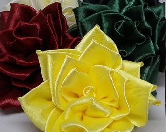 Satin Rose Brooch Corsage