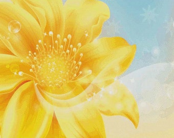Golden Flower PDF Cross Stitch Pattern