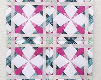 Paper Piecing - Aquarius #237 - Zodiac Block of the Month - 3 sizes