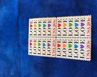 Vintage US Love Stamps, 20c, 1984